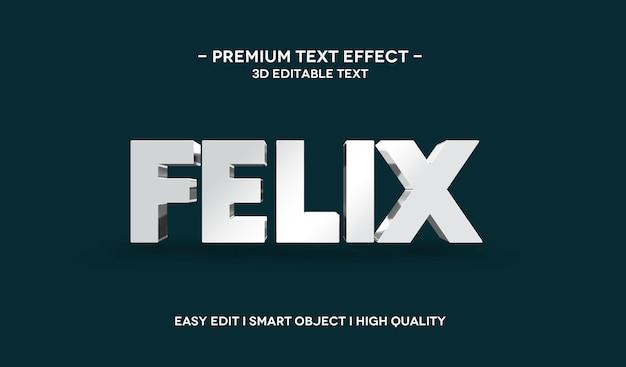 Modello di effetto stile testo 3d felix