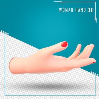 Rendering 3d mano femminile
