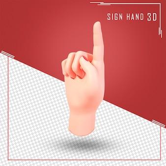 Mano femminile che tocca il rendering 3d