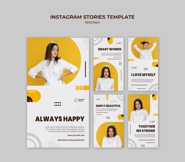 Modello di storie di instagram di conferenza sul femminismo