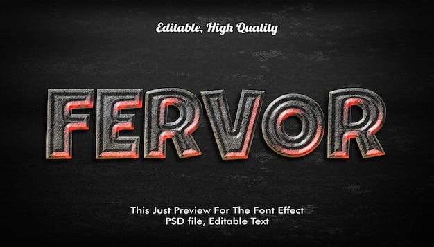 Ferfor stile di testo 3d