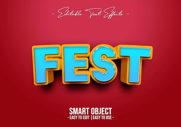 Fest-text-style-effect