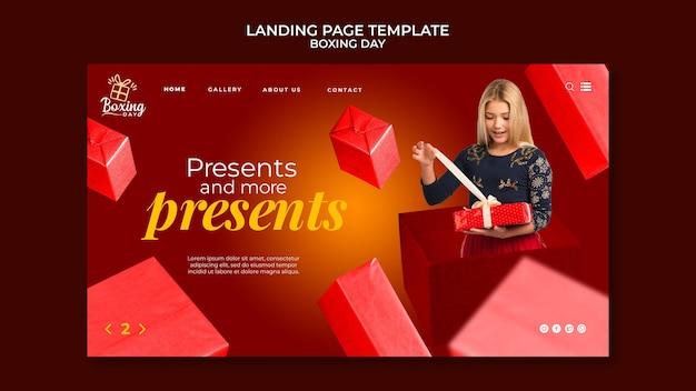 Modello web festivo per il giorno di santo stefano