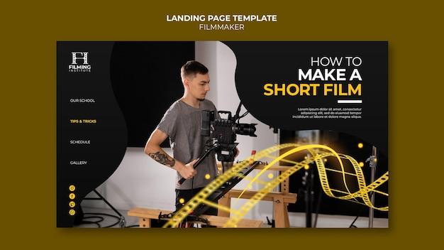 Progettazione del modello di pagina di destinazione del regista
