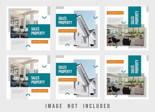 Finest property instagram post template design