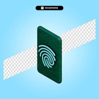 Illustrazione di rendering 3d di impronte digitali isolata