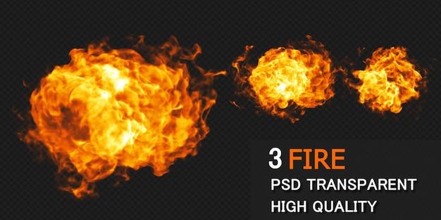 Rendering di progettazione di esplosione di fuoco isolato rendering