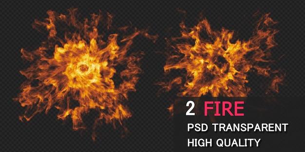 Rendering di progettazione di esplosione di fuoco isolato