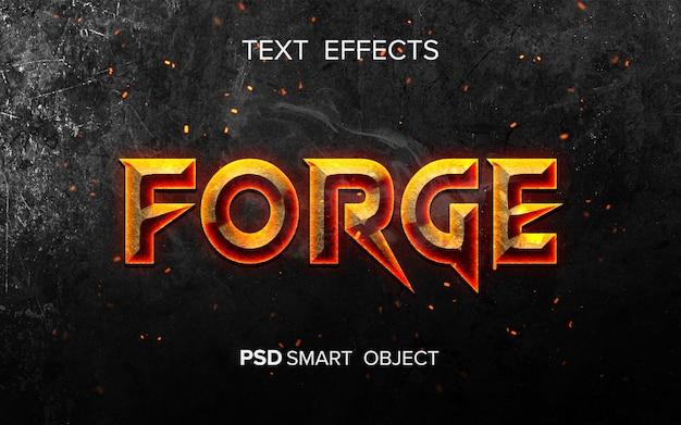 Effetto testo ispirato al fuoco fire