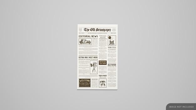Mockup del giornale della prima pagina