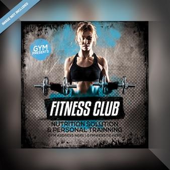 Volantino per fitness club