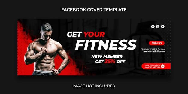 Copertina di facebook fitness post sui social media e banner web