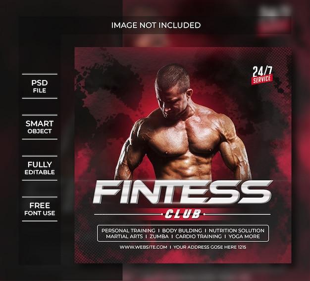 Volantino di fitness post sui social media