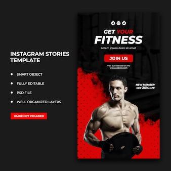 Post di social media fitness e banner web