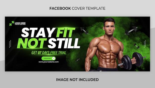 Banner web fitness o modello di copertina dei social media