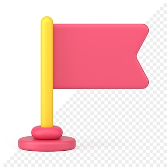 Icona bandiera 3d