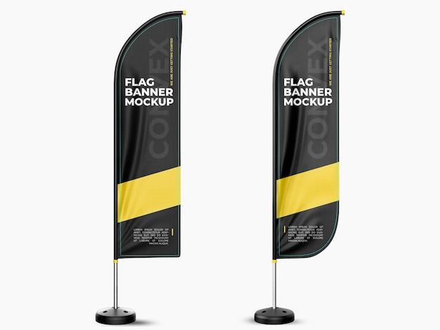 Bandiera banner mockup