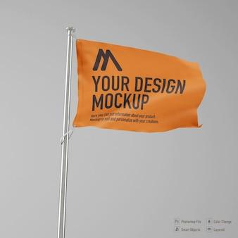 Mockup di bandiera isolato su sfondo di colore bianco
