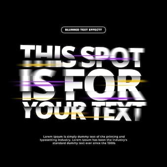 Effetto testo blurrato flash