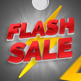 Vendita flash 3d rendering banner