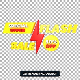 Offerta speciale di vendita flash 3d render isolato