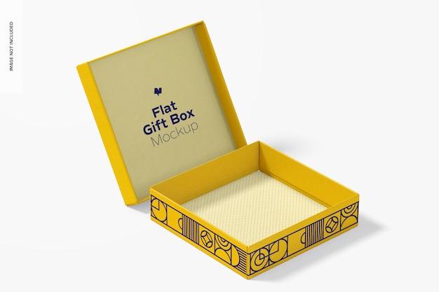 Mockup di scatola regalo piatto