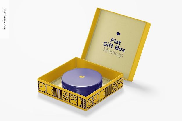 Mockup di scatola regalo piatto Psd Premium