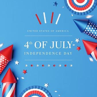 Lay piatto del 4 luglio Psd Premium