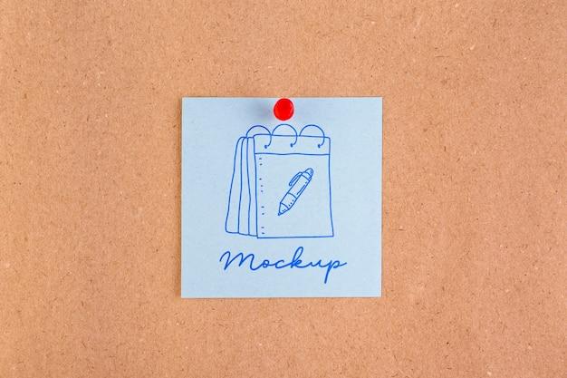 Disposizione piatta del tag mock-up
