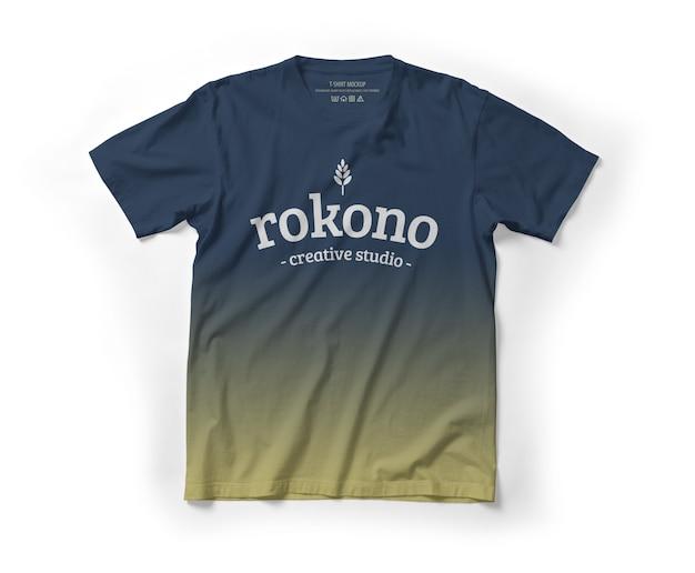 Lay piatto di mockup di t-shirt realistico
