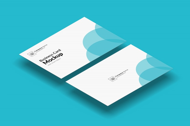 Mockup biglietto da visita mobile