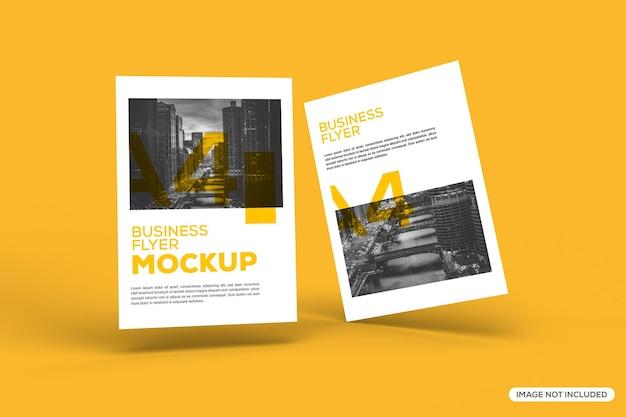 Mockup di concetto di brochure galleggiante