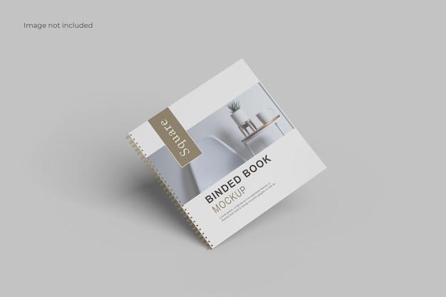Catalogo fluttuante binder mockup
