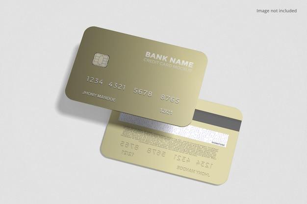 Mockup di carta di credito fluttuante