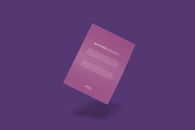 Flyer galleggiante brochure mockup realistico