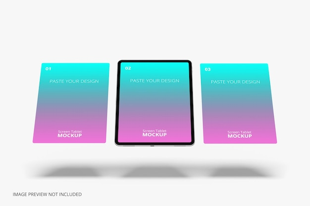 Tablet pro mockup con schermo mobile per rendering 3d