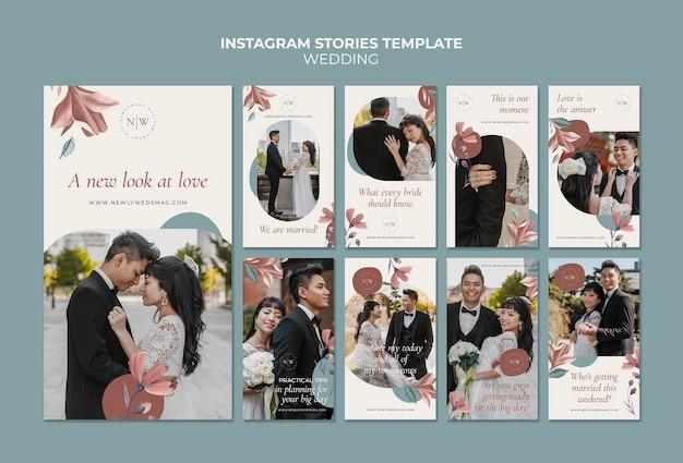 Raccolta di storie instagram matrimonio floreale