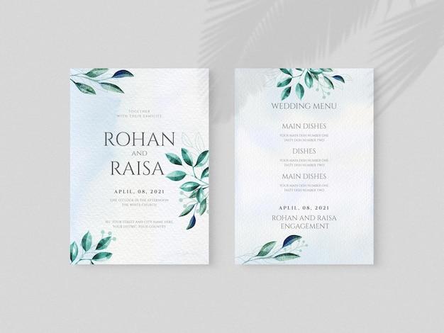 Design floreale carta di invito a nozze