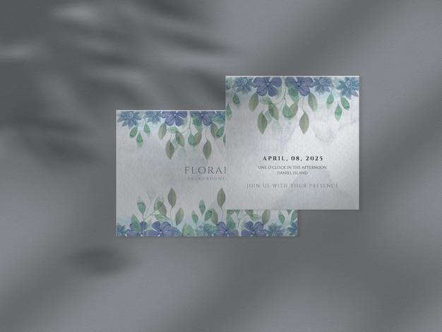 Modello floreale dell'invito di nozze stabilito modello floreale della carta di fondo dell'acquerello delle foglie disegnate a mano