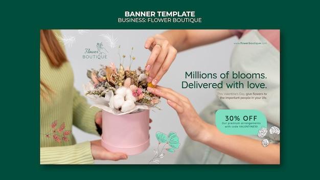 Banner orizzontale boutique di fiori