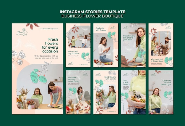 Storie di instagram di boutique di fiori