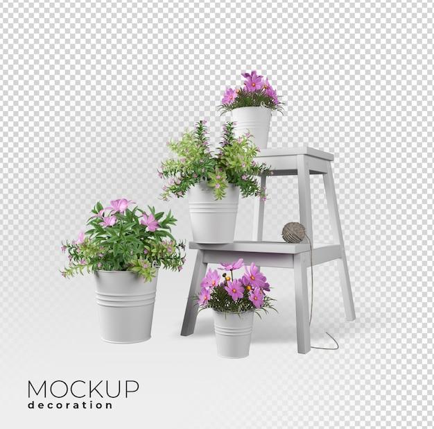 Decorazione interna del fiore nel rendering 3d