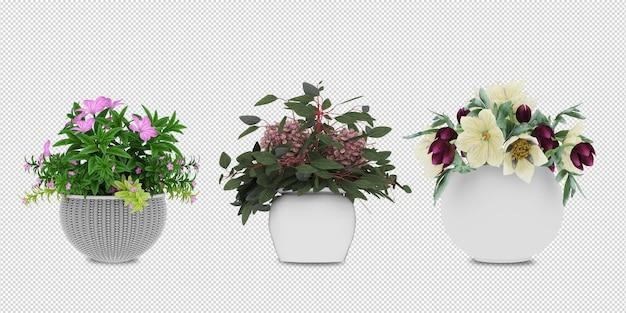 Decorazione d'interni della pianta 3d della foglia dell'ornamento del fiore