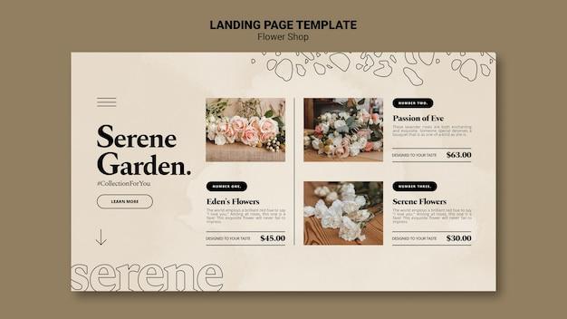 Modello web negozio di fiori