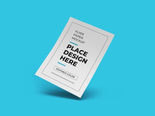 Flyer paper mockup