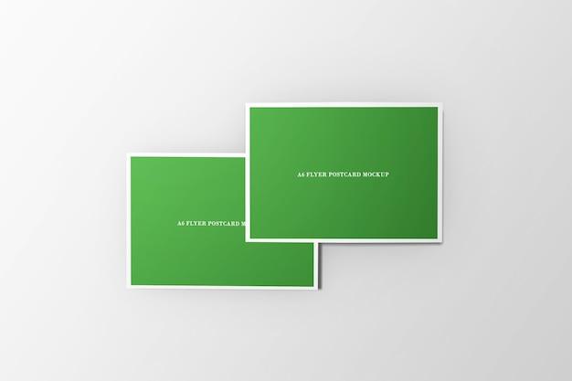 Mockup di cartolina volantino