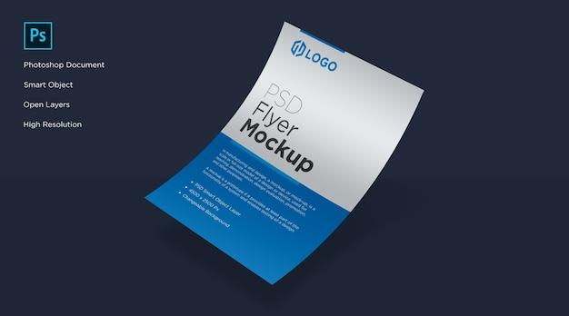 Flyer e poster curva mockup design