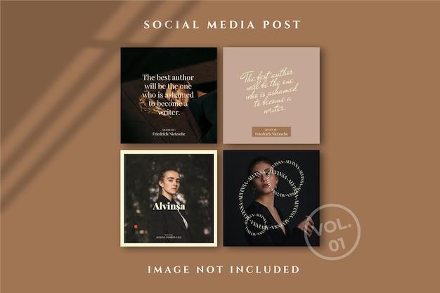 Flyer square social media feed poster instagram