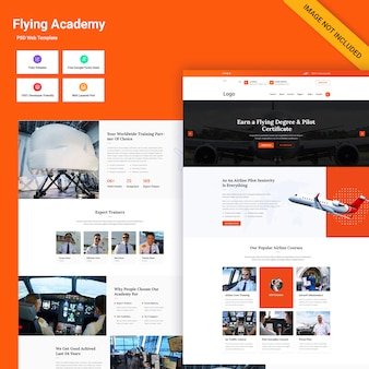 Ui web di flying academy