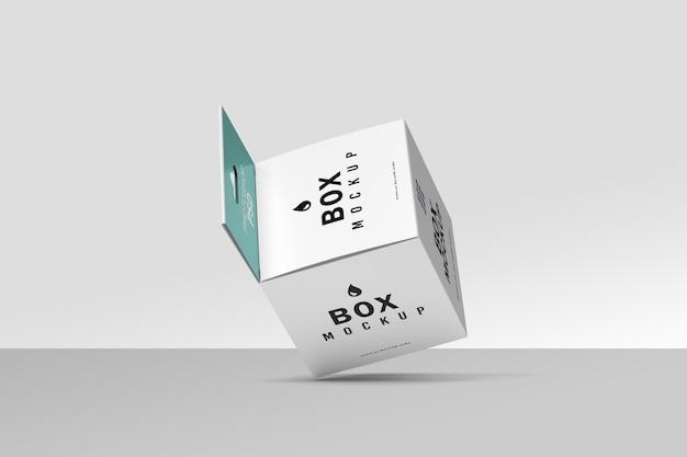 Mockup di imballaggio scatola volante